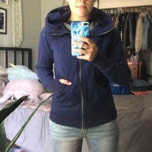 Lululemon Navy Blue Scuba Hoodie